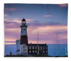 Montauk Lighthousepastel  Sunrise Fleece Blanket