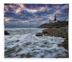 Montauk Morning Fleece Blanket