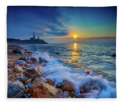 Montauk Sunrise Fleece Blanket