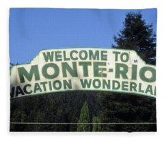 Monte Rio Sign Fleece Blanket