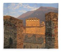 Montebello - Bellinzona, Switzerland Fleece Blanket