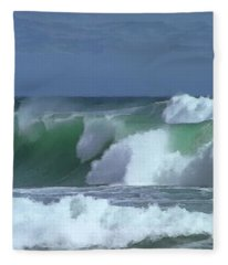 Monterey Surf Fleece Blanket