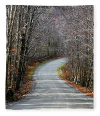 Montgomery Mountain Rd. Fleece Blanket