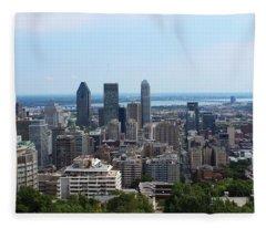 Montreal Cityscape Fleece Blanket