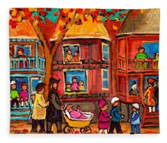 Montreal Early Autumn Fleece Blanket