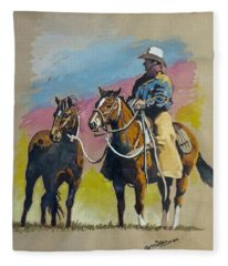 Monty Roberts Fleece Blanket