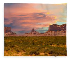 Monument Valley Landscape Vista Fleece Blanket