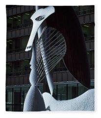 Monumental Sculpture In Front Fleece Blanket