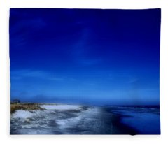 Mood Of A Beach Evening - Jersey Shore Fleece Blanket