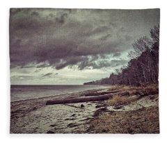 Moody Beach Fleece Blanket