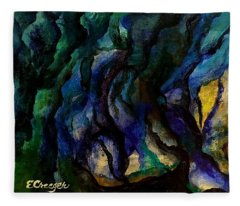 Moody Bleu Fleece Blanket