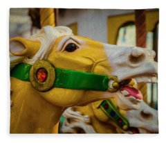 Moody  Carrousel Horse Fleece Blanket