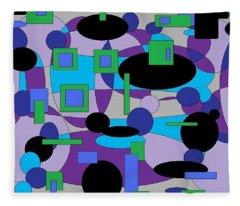 Moody Purple Fleece Blanket