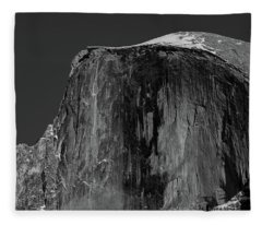 Moon And Half Dome Fleece Blanket