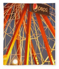 Moon And The Ferris Wheel Fleece Blanket