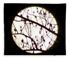 Moon Branches Fleece Blanket