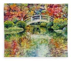 Moon Bridge Fleece Blanket