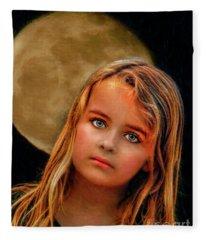 Moon Child  Fleece Blanket