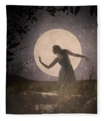 Moon Dance 001 Fleece Blanket