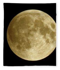 Moon During Eclipse Fleece Blanket