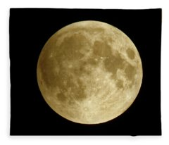 Moon During Eclipse Fleece Blanket