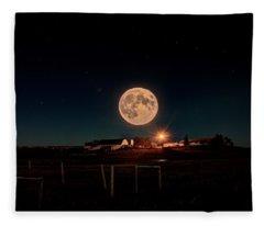 Moon Farm Fleece Blanket
