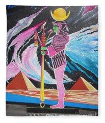 Blaa Kattproduksjoner             Moon God - Osiris Fleece Blanket