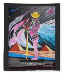 Blaa Kattproduksjoner             Moon God - Osiris Fleece Blanket