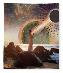 Moon Intentions Fleece Blanket