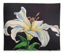 Moon Light Lilly Fleece Blanket