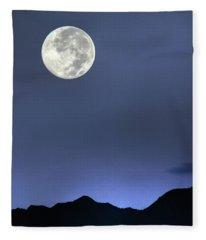 Moon Over Ko'olau Fleece Blanket