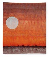 Moon Over Mojave Fleece Blanket