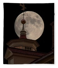 Moon Over Mount Vernon Fleece Blanket