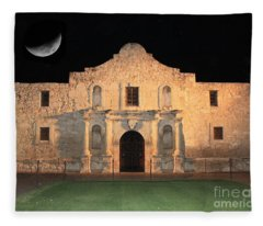 Moon Over The Alamo Fleece Blanket