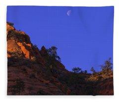 Moon Over Zion Fleece Blanket