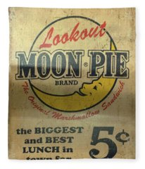 Moon Pie Antique Sign Fleece Blanket
