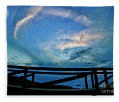 Moon Rise Over Garrapata State Park Fleece Blanket