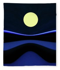 Moon River  Fleece Blanket