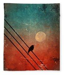 Moon Talk Fleece Blanket