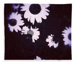 Moonlight Daisies Fleece Blanket