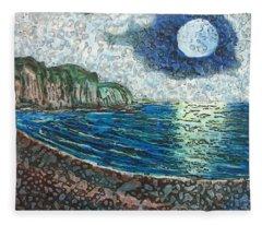 Moonlight In Pourvill Fleece Blanket