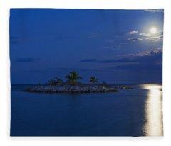 Moonlight Island Fleece Blanket