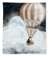 Moonlight Kisses Fleece Blanket