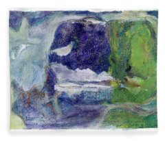 Moonlight Mountain Fleece Blanket