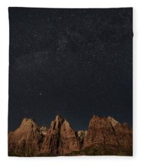 Moonlight On Court Of Patriarchs Fleece Blanket