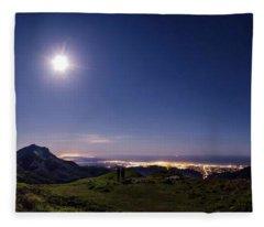 Moonlight Panorama Fleece Blanket