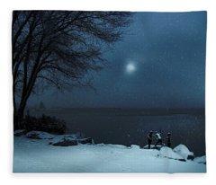 Moonlight Romp Fleece Blanket