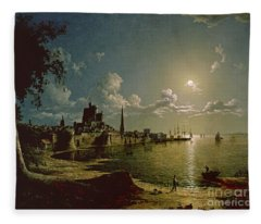 Moonlight Scene Fleece Blanket