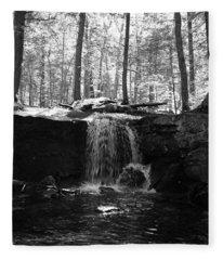 Moonlight Waterfall Fleece Blanket