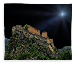 Moonlit Castle Fleece Blanket